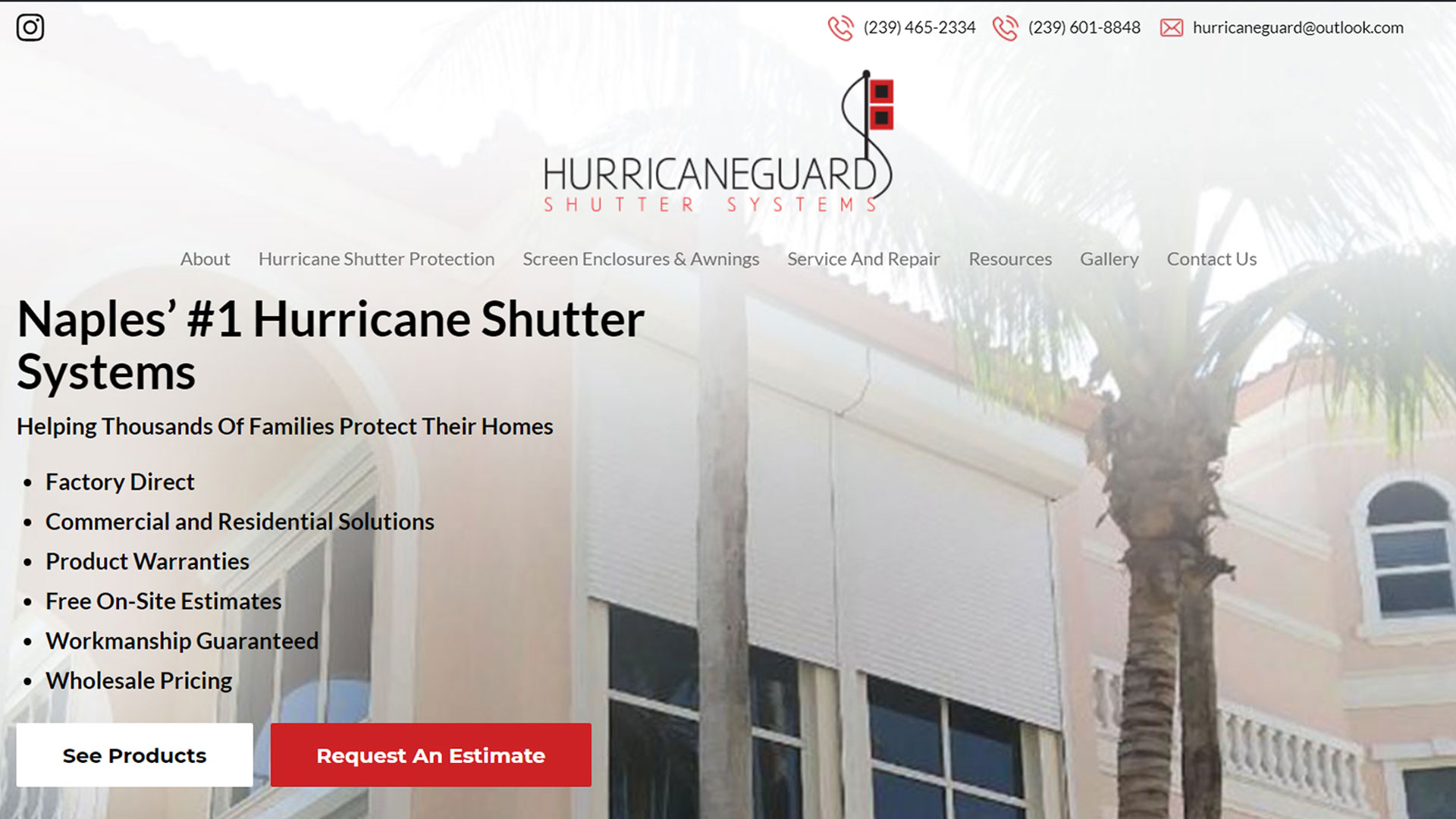 Hurricane Guard Shutter Systems Commercial And